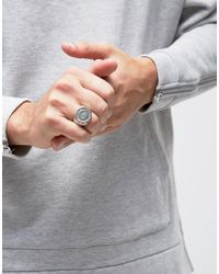Icon Brand - Metallic Benoit Chunky Ring In Silver for Men - Lyst