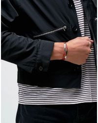 Icon Brand - Tag Woven Bracelet In Red for Men - Lyst