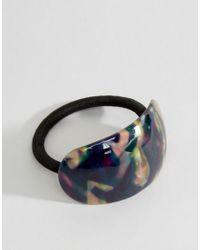 Orelia - Brown Curved Animal Hair Tie - Lyst