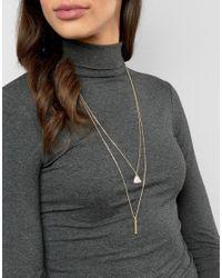 Nylon - Metallic Multi Layered Necklace - Lyst