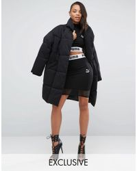 PUMA | Black Exclusive To Asos Cropped Mesh Skirt Co Ord | Lyst