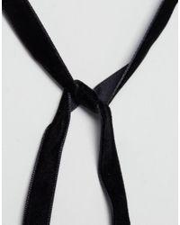 New Look | Black Deco Wrap Choker Necklace | Lyst