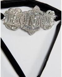 New Look - Black Deco Wrap Choker Necklace - Lyst