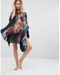 Ted Baker | Blue Alexii Focus Bouquet Cover Up | Lyst