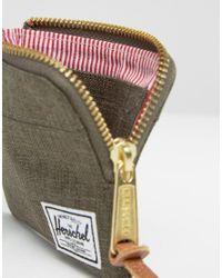 Herschel Supply Co. - Green Johnny Khaki Zip Around Wallet - Lyst