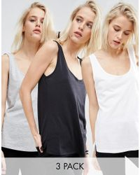 ASOS   Multicolor The New Ultimate Vest 3 Pack Save 20%   Lyst