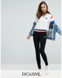 Le Coq Sportif | Black Exclusive To Asos Leggings With Contrast Tricolor Waistband | Lyst