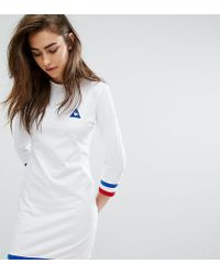 Le Coq Sportif | White Exclusive To Asos Sweat Dress With Tricolor Tipping | Lyst