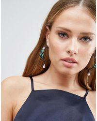 ASOS - Multicolor Statement Jewel Hoop Earrings - Lyst