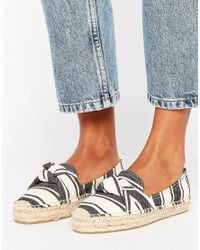 Soludos | Multicolor Stripe Knotted Platform Espadrille Smoking Slippers | Lyst