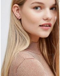 Pieces - Metallic Gold Plated Perula Earrings - Lyst