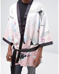 Jaded London | Pink Kimono In Floral Print for Men | Lyst