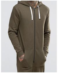 ASOS | Green Onesie In Khaki for Men | Lyst