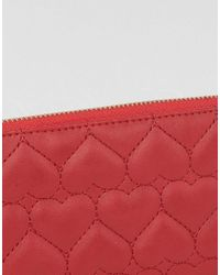 Yoki Fashion | Red Yoki Quilted Zip Around Purse | Lyst