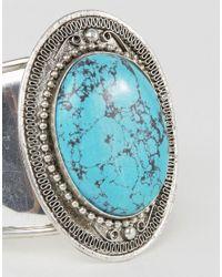 Raga | Metallic Turquoise Pendant Cuff Bracelet | Lyst