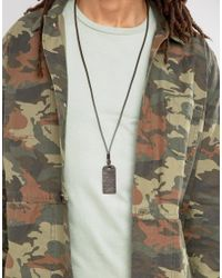 DIESEL | A-grater Dogtag Necklace In Brown for Men | Lyst