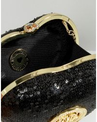 Love Moschino - Black Sequin Shoulder Bag - Lyst