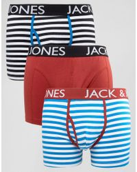 Jack & Jones | Red Trunks 3 Pack With Stripe for Men | Lyst