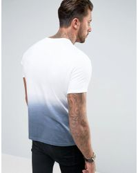 Another Influence | Blue Ombre Fade Out T-shirt for Men | Lyst