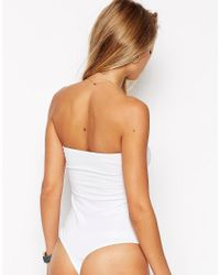 ASOS - Black Bandeau Body With Thong - Lyst