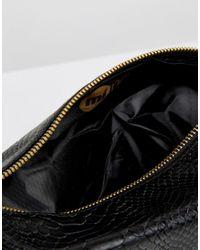 Mi-Pac - Black Faux Python Wash Bag - Lyst