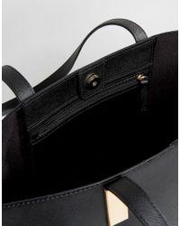 Faith - Black Evelyn Tag Detail Tote Bag - Lyst
