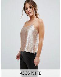 ASOS | Metallic Sequin Cami Top | Lyst