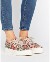 ASOS | Multicolor Day Flatform Canvas Trainers | Lyst