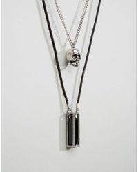Icon Brand   Black Skull & Pendant Necklace Pack for Men   Lyst
