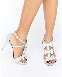 Ted Baker | Appolini Light Blue Bow Heeled Sandals | Lyst