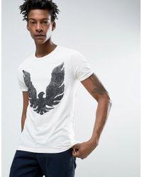 BOSS Orange | By Hugo Boss Slub Eagle T-shirt Regular Fit In White for Men | Lyst