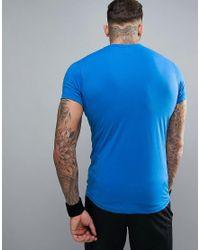 Jack & Jones - Blue Tech T-shirt With Printed Stripe for Men - Lyst
