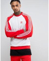 Adidas Originals   Superstar Crewneck Sweatshirt In Red Bk5819 for Men   Lyst