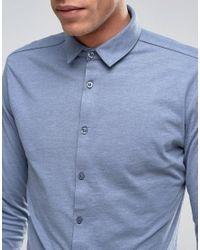 Lindbergh - Long Sleeve Jersey Shirt In Blue for Men - Lyst