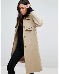 Cooper & Stollbrand | Natural Cooper & Stallbrand Folded Mac Coat | Lyst
