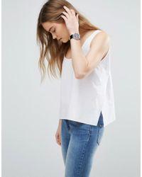 ASOS | White Cotton Vest With Split Sides | Lyst