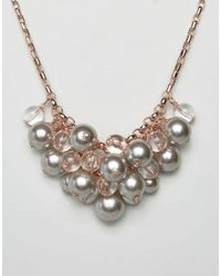 Ted Baker | Pink Galini Pearl Cluster Necklace | Lyst