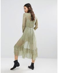 Free People | Green Shine Maxi Dress With Glitter Detailing | Lyst
