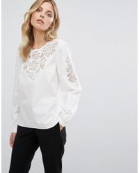 Whistles | Multicolor Beatrice Cutwork Cotton Top | Lyst