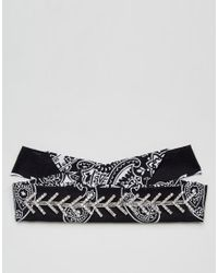ASOS - Black Limited Edition Embellished Bandana Choker Necklace - Lyst