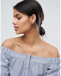 ASOS - Metallic Limited Edition Chunky Swirl Through Hoop Earring - Lyst