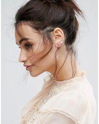 ASOS - Metallic Limited Edition Crystal Swirl Stud Ear Climber Pack - Lyst