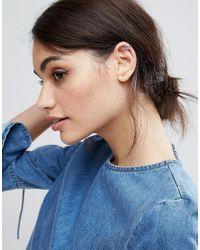 ASOS | Metallic Limited Edition Crystal Draping Ear Cuff | Lyst