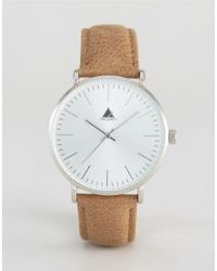 ASOS - Brown Watch With Leather Strap In Light Tan for Men - Lyst