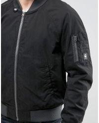 G-Star RAW - Black Attacc Bomber Jacket for Men - Lyst