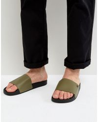 KG by Kurt Geiger | Green Kg By Kurt Geiger Slider Sandals for Men | Lyst