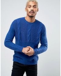 Cheap Monday | Black Deprived Knit Half Cable Sweater for Men | Lyst