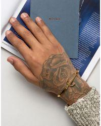 Mister | Metallic Axle Anchor Bangle Bracelet In Gold for Men | Lyst