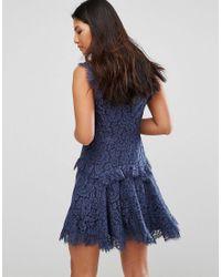 Talulah - Blue Midnight Dream Mini Dress - Lyst