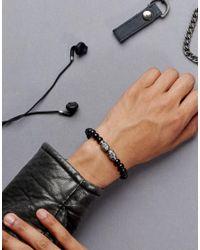 Simon Carter - Black Skull Beaded Bracelet In Onyx for Men - Lyst